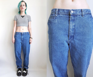 90s, high waisted jeans, and vintage jeans image