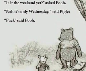 pooh, weekend, and funny image