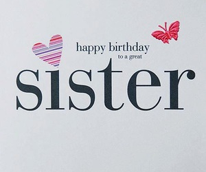 sister and happy birthday image