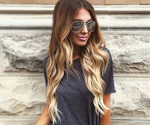 hair, ombre, and girl image