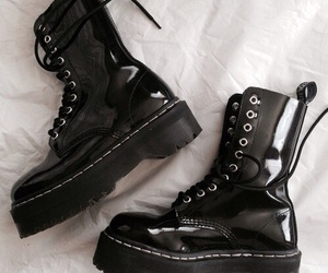 aesthetic, boots, and goth image