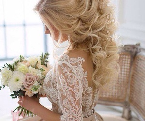 beautiful, flowers, and wedding image