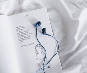 book, music, and rainy days image