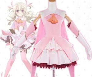 cute anime dress, fate kaleid liner, and pink anime dress image