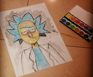 drawing, rick&morty, and rick sanchez image