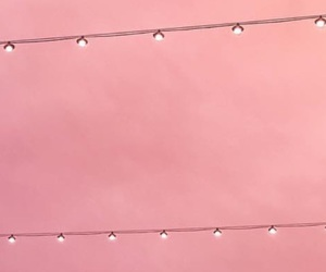lights, pastel, and pink image