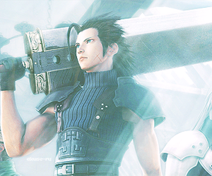 black hair, cloud strife, and crisis core image