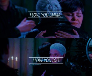 once upon a time, regina, and snow image