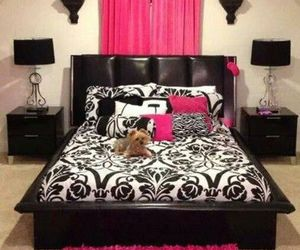 girl bedroom and pink accents image