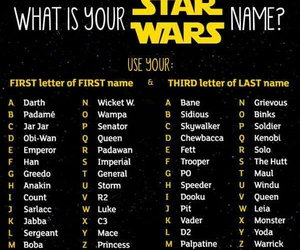 funny, name, and star wars image