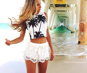 summer, beach, and clothes image