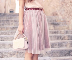 fashion, tulle skirt, and pink image