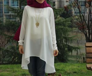 hijab, look, and hijabfashion image