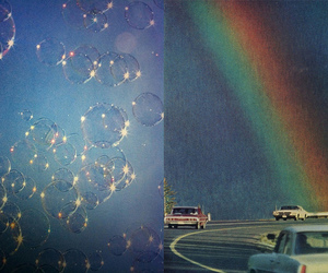 bubbles, road, and summer image