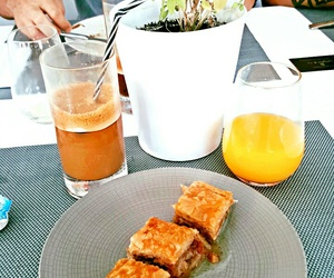 breakfast, mykonos, and tasty image