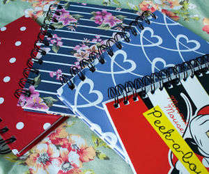 notebooks, Paper, and school image