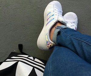 adidas, jeans, and light image