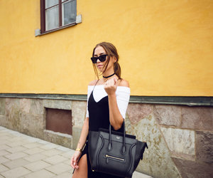 fashion, black, and brunette image
