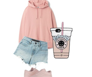 outfit, fashion, and peach image