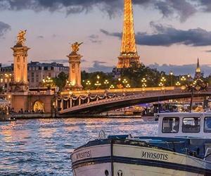 paris, beautiful, and bridge image