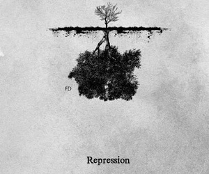 repression, black, and tree image