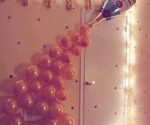 balloons, party, and champagne image