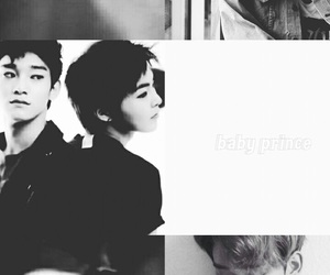 aesthetic, black and white, and Chen image