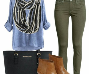 green, jeans, and shoes image