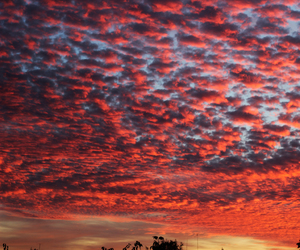 beautiful, red, and red clouds image