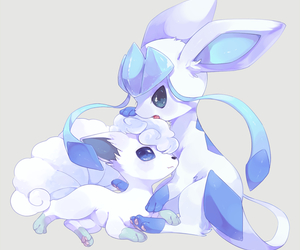 pokemon, vulpix, and glaceon image
