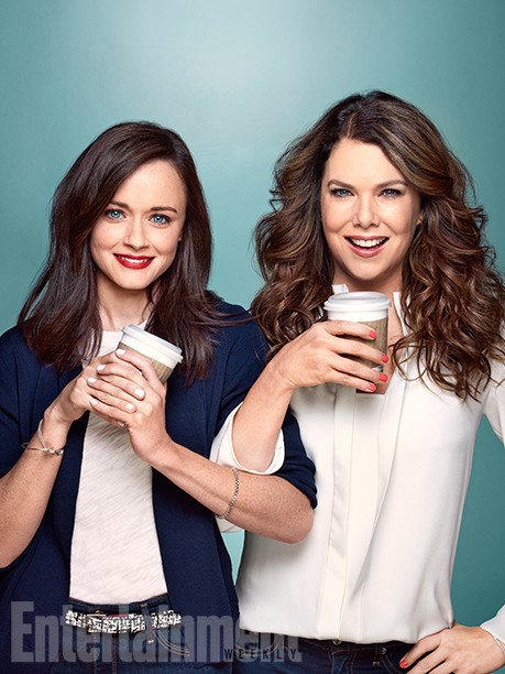 alexis bledel, coffee, and gilmore girls image