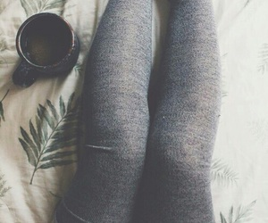 socks, coffee, and legs image