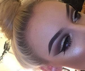makeup and blonde image