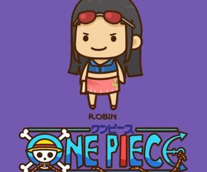 chibi, one piece, and robin image