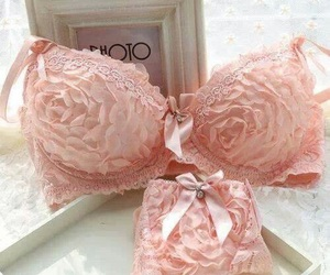 pink, underwear, and lingerie image