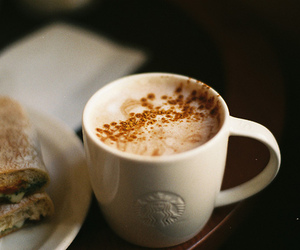coffee, food, and starbucks image