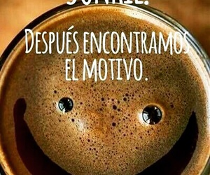 smile, frases, and cafe image