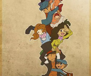 professor layton, emmy altava, and don paolo image