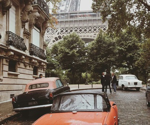 autumn, car, and eiffel tower image
