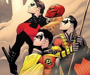 robin, DC, and red hood image
