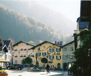nature, street, and town image