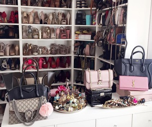 bags, money, and shoes image