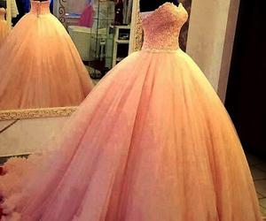 dress, pink, and blush prom dresses image