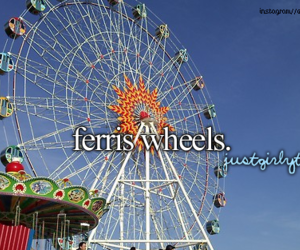 ferris wheel, just girly things, and justgirlythings image