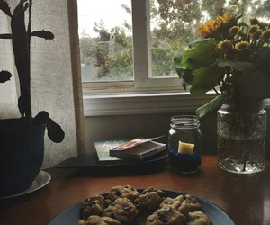 baked, chocolate chip, and Cookies image