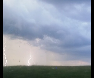 clouds, lightening, and sky image