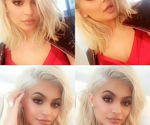 kylie jenner and blonde image