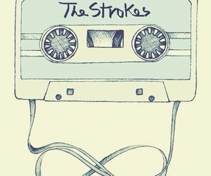 the strokes, music, and cassette image