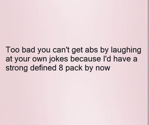 abs, funny, and joke image