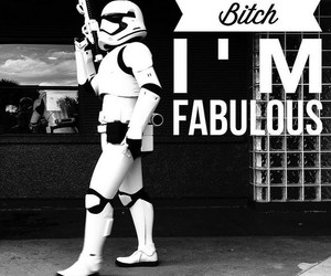 black and white, fabulous, and star wars image